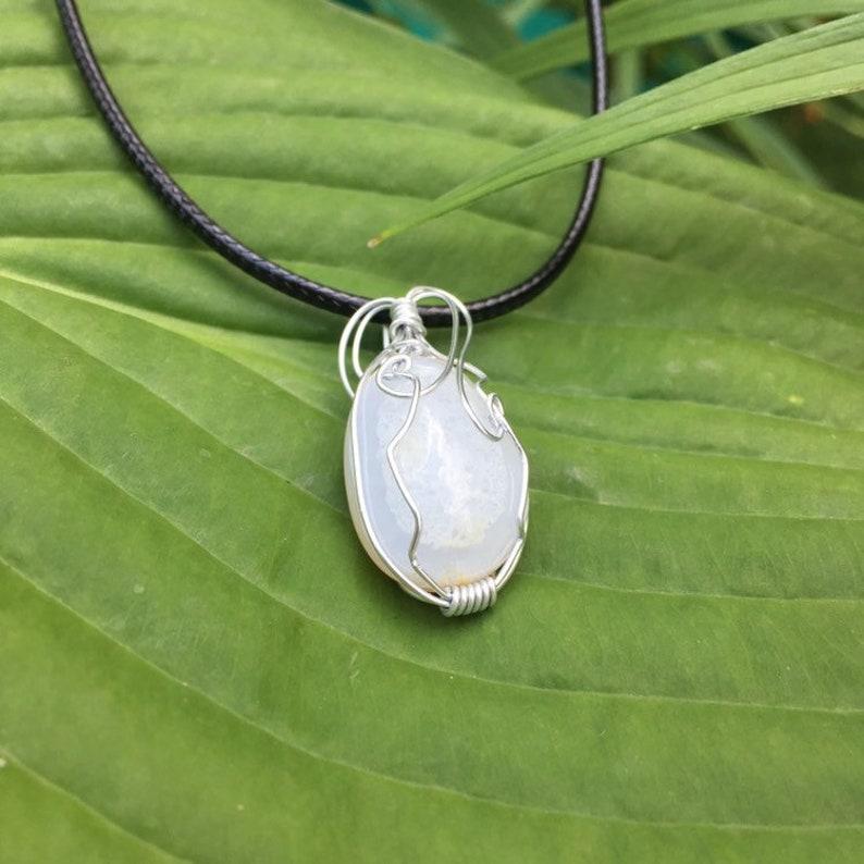 White Quartz Wire Wrapped Necklace