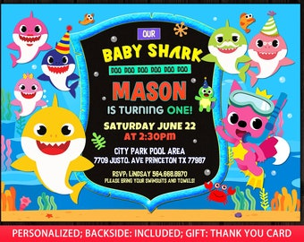 Baby Shark Invitation