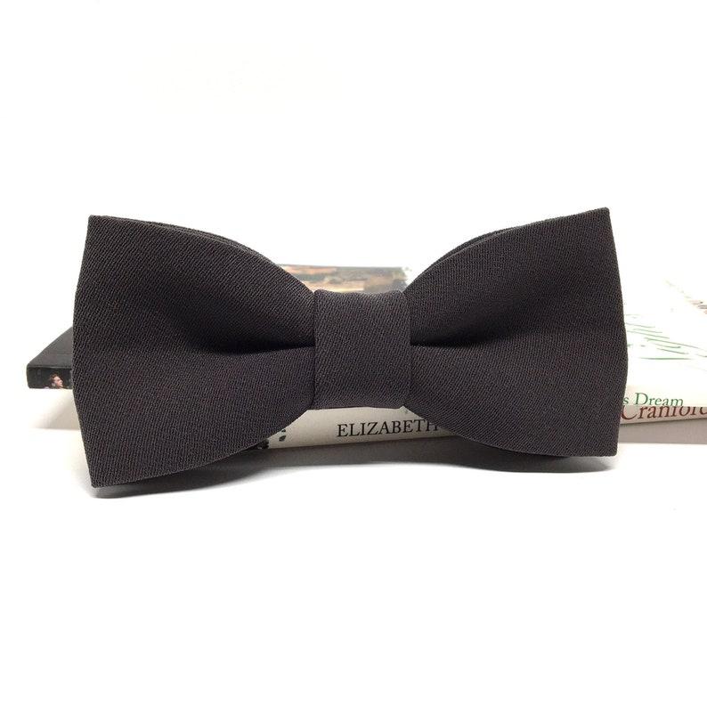 Kids Bow tie Groom Bow tie Dark Gray Bow tie Wedding Bow tie Mens Adult Groom Baby Boys Kids Bow ties for men Groomsmen bow tie