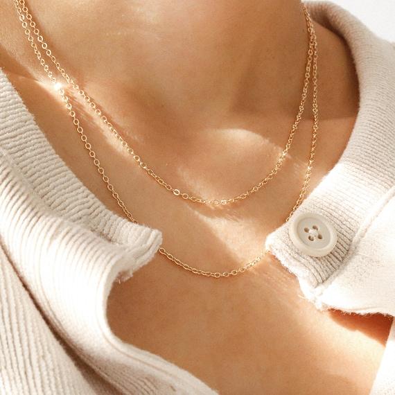 dainty everyday layering necklace 14k gold filled dainty choker necklace with tiny 5 stars pendant minimal necklace