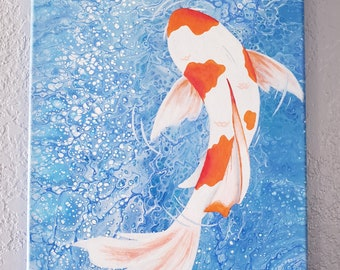 Simple Fish Painting Etsy