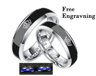 b53bd42372 Promise rings for couples,couple rings,the king his queen matching rings set ,couples gift boyfriend
