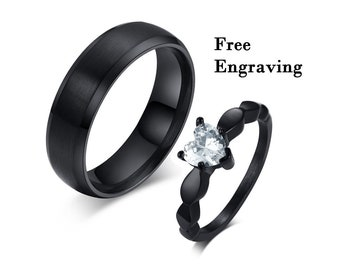 781210f44f Promise rings for couples, couples ring set,couple rings,1st anniversary  gift for husband,couples gift boyfriend