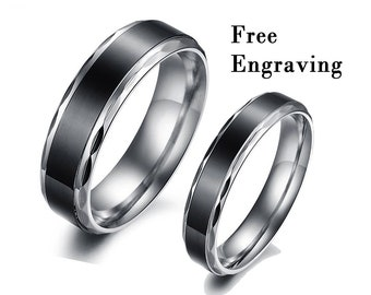 6b53f99906 Promise rings for couples,couple rings,couple ring set,couples gift  boyfriend,1st anniversary gift for husband,30th birthday for him