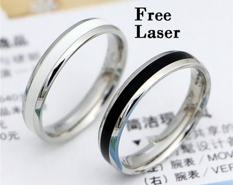 5611364ceb Promise rings for couples,his and her promise rings,couple ring set,yīn  yáng matching couples ring,couples gift boyfriend,