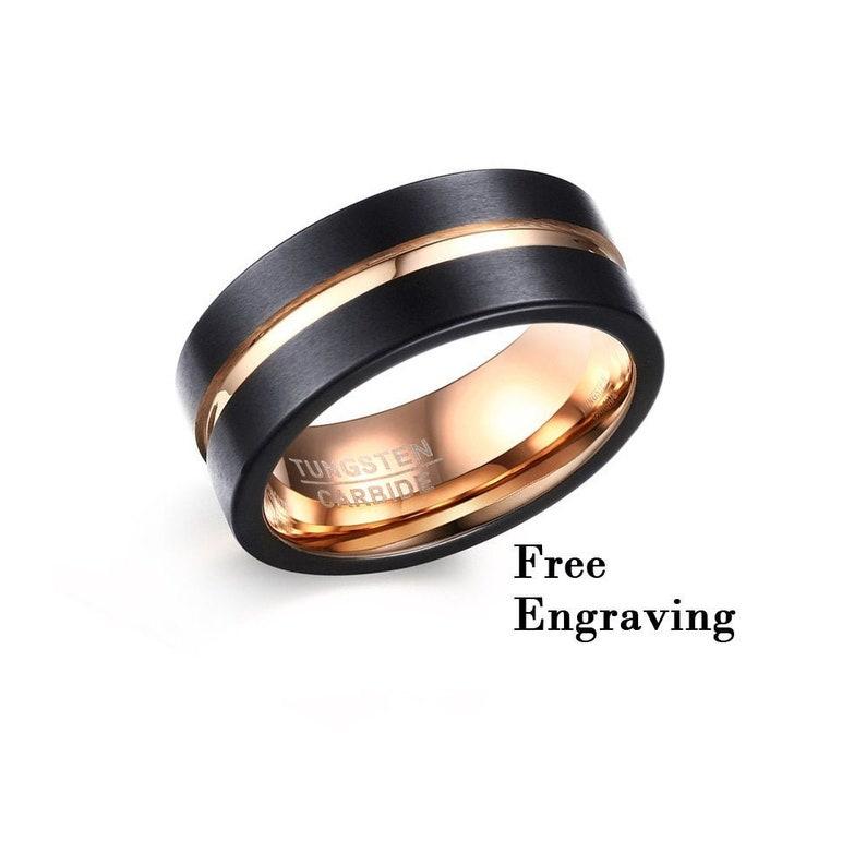 Tungsten Wedding Band Men10 Year Anniversary Gifts For Etsy