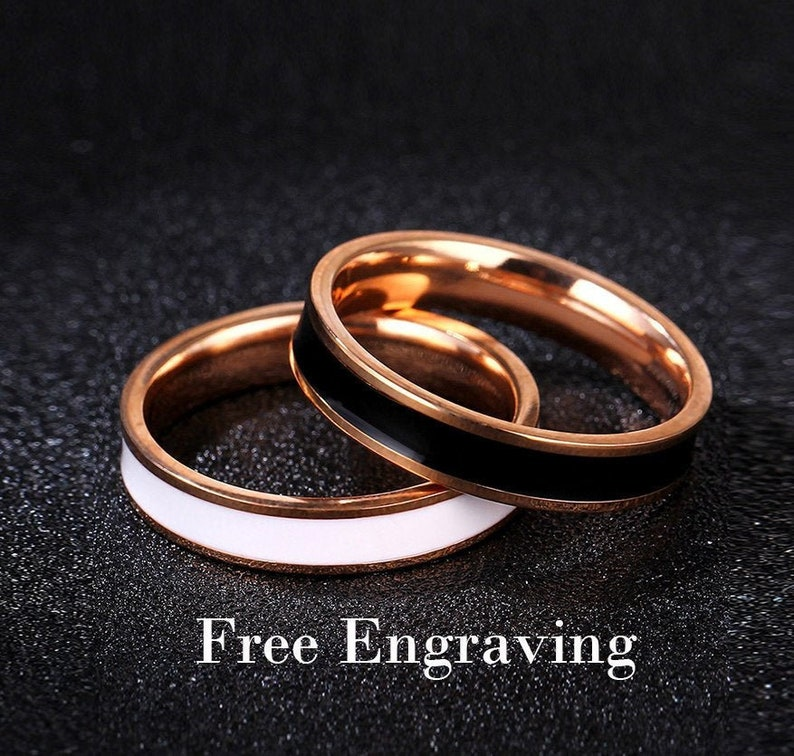 Promise Rings For Coupleswedding Rings Type 316 Stainless Etsy