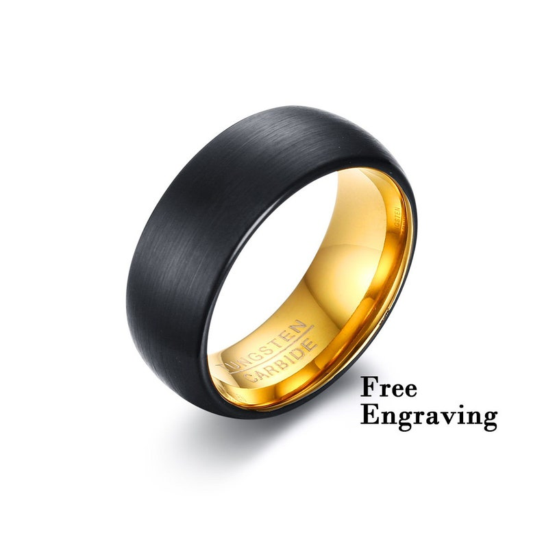 Tungsten Wedding Band Men Male Wedding Band1st Anniversary Etsy