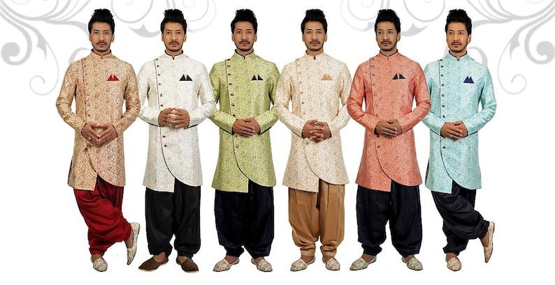 22 Creations Men's Indian Traditional Sherwani Set (various sizes & colors)
