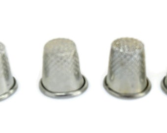 CleverDelights 3//4 Metal Thimbles Finger Needle Protectors Sewing Quilting Needlepoint Size 10 100 Pack