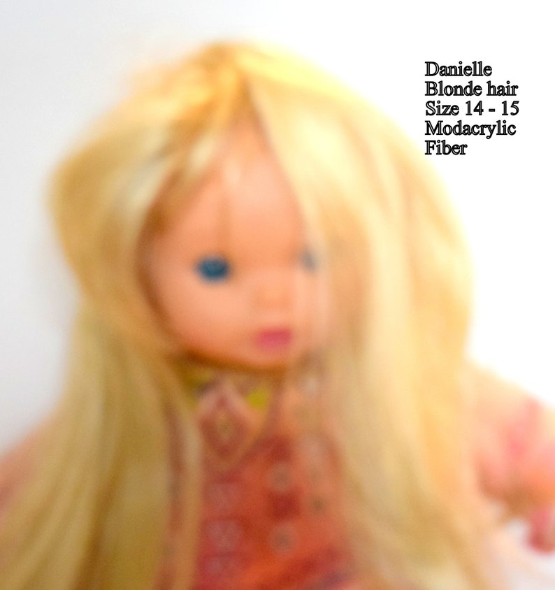 DOLL WIG Style Heather Size 14-15 In Color Pale Blonde Modacrylic By Playhouse