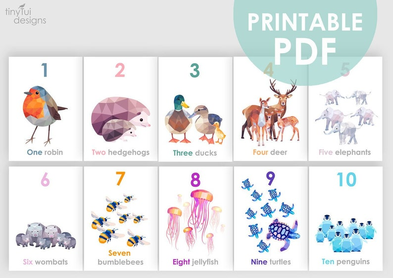 photograph relating to Printable Number Cards 1 10 named Printable quantity artwork, Finding out in direction of depend artwork, Counting playing cards, 123 wall artwork, Animal 123 decor, Variety playing cards, Homeschool artwork, Lovable nursery artwork