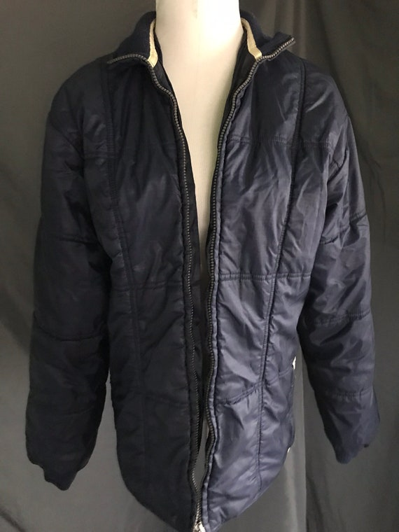 ADIDAS sports Label Blue VTG 90s Puffer Jacket Sz ML