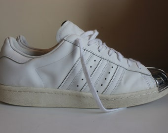3607abcfb2f Rare Adidas Superstar 80s Silver Shell Toe Trainers- Size 10UK