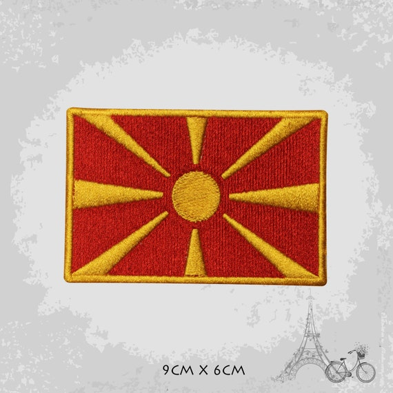 MACEDONIA National Flag Embroidered Iron on Sew on Patch Badge For Clothes 9x6CM