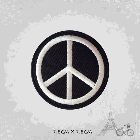 Peace Symbol Iron On Sew On Embroidered Patch Badge For Clothes etc