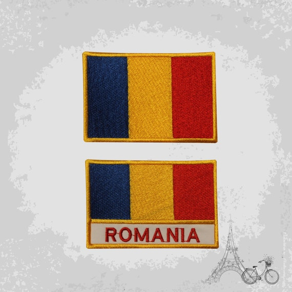 ROMANIA Country Flag Embroidered PATCH Badge