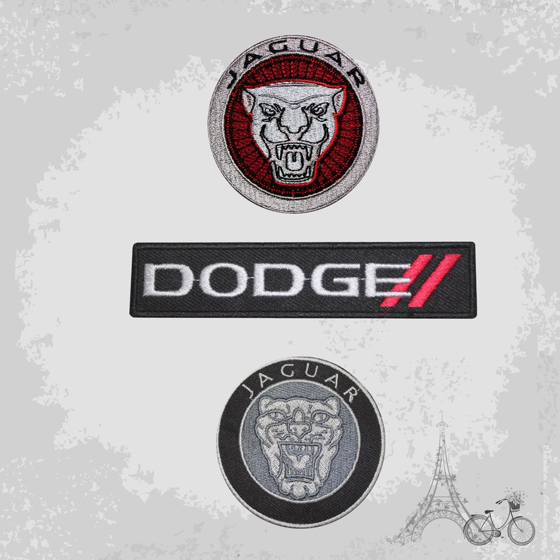 Car Logo Dodge Iron on//Sew on Embroidered Patch//Badge T-shirt Patch