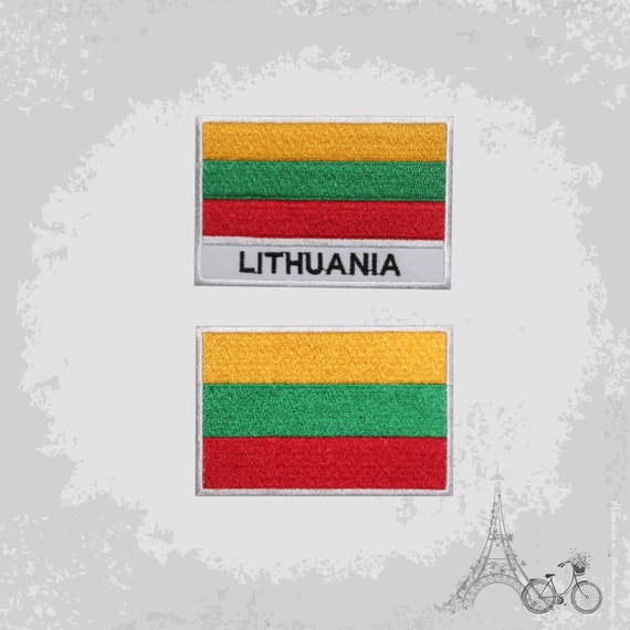 Sew On Lithuanian Flag Embroidered Applique Lithuania Flag Patch Iron On Badge