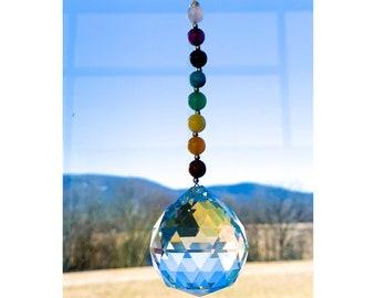 Chakra Sun Catcher/ Chakra Suncatcher/ Chakra Art/ Rainbow Suncatcher/ Rainbow Sun Catcher/ For Windows/ Chakra Crystal/ Hanging Window/ Sun