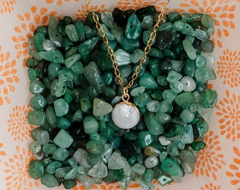 Delicate Necklace for Bridesmaid/ Dainty Bridesmaid Necklace/ Dainty Gold Beaded Charm Necklace/ Bridesmaid Jewelry/ Simple Gold Necklace/