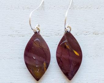 Natural Jasper Gemstone Earrings