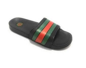 separation shoes fc60a 59f51 Sandals Gucci Custom, Gucci inspired sandal, Flip Flops, women men inspired  unisex