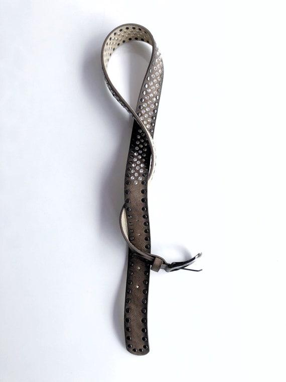 Brown Leather Belt,Rhinestone Leather Belt,Boho B… - image 8