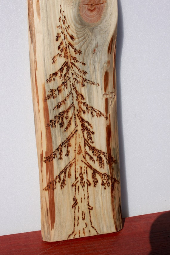 Wood Burning Art Tree Wood Burn Pyrography Wood Burning Art Mountain  Abstact Tree Art Pine Scene Refined Forest Live Edge Nature Lover Wall