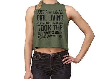4d418533cb4ff9 Harry Potter Shirt - Wizard Shirt - Gift for Her -Gryffindor Shirt - Hogwarts  Shirt - Women s Crop Top