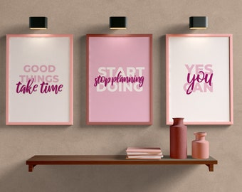 Motivational Design Quotes Set, Large Quote Poster,Printable Wall Art,Inspirational Prints,Motivational Words,Digital Download