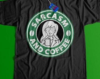 5c0ff06e8 Daria Sarcasm and Coffee Short-Sleeve Unisex T-Shirt