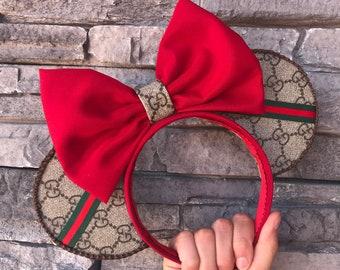 a5fb1ed03 Designer inspired Minnie ears gucci inspired Disney ears