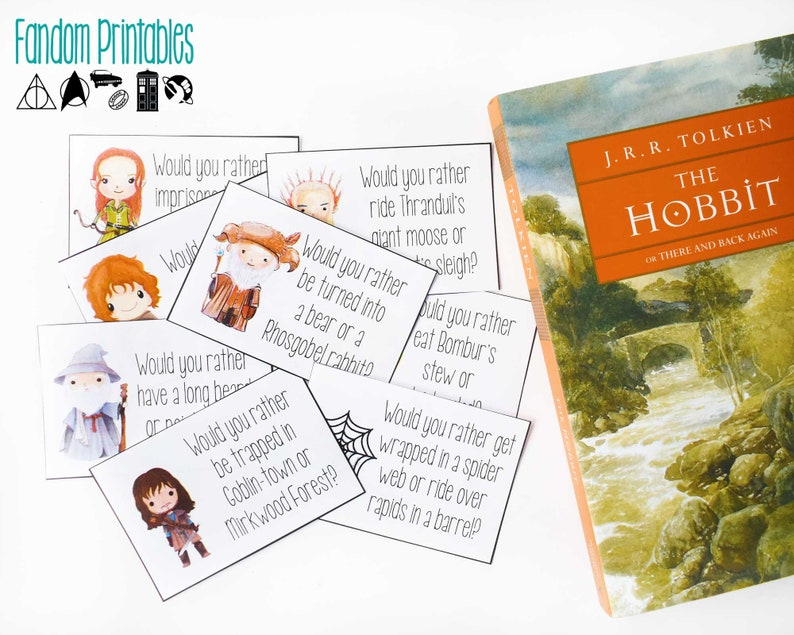 graphic relating to Would You Rather Cards Printable identify Hobbit-encouraged Would By yourself In its place? Playing cards