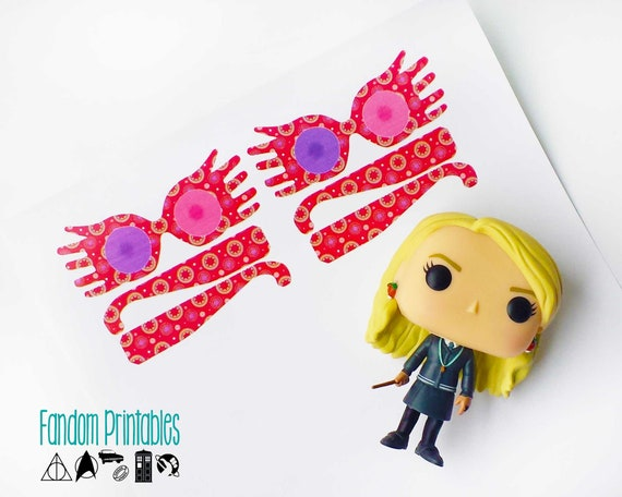 photograph about Luna Lovegood Glasses Printable identify Luna Lovegood-motivated Mini Spectrespec Gles (Harry Potter)