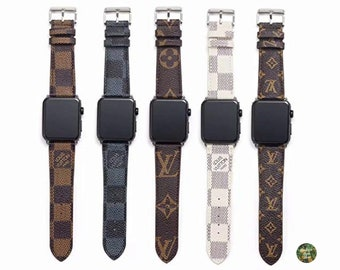 5133a66b80 Handmade Louis Vuitton Apple Watch Band Leather 38mm 40mm Repurposed for  Apple Watch Series 1 2 3 4