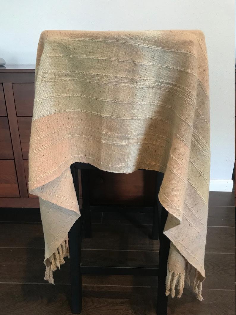 Vintage Long Wool Table Runner 20 in x 80 in