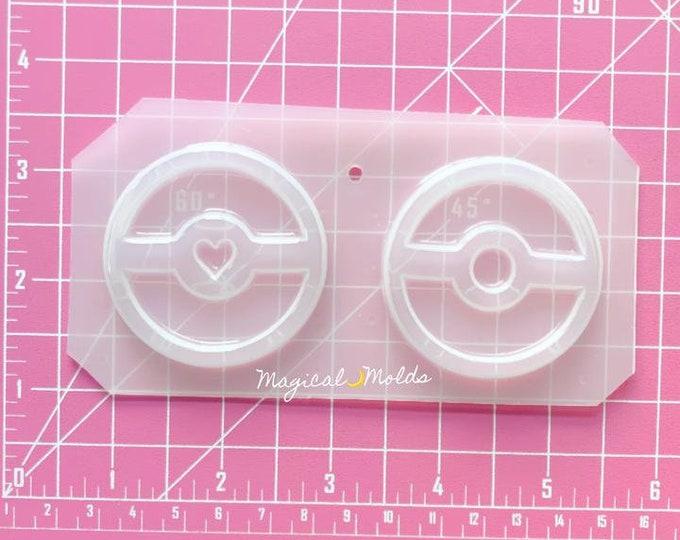 Pikaball Flexible Plastic Resin Chocolate Mold ~ 2 pc