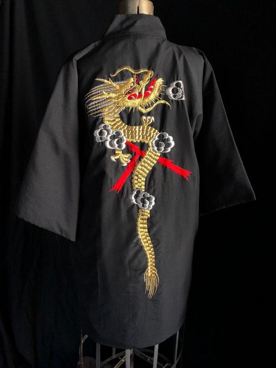 Japapese Made Embroidered Dragon Kimono