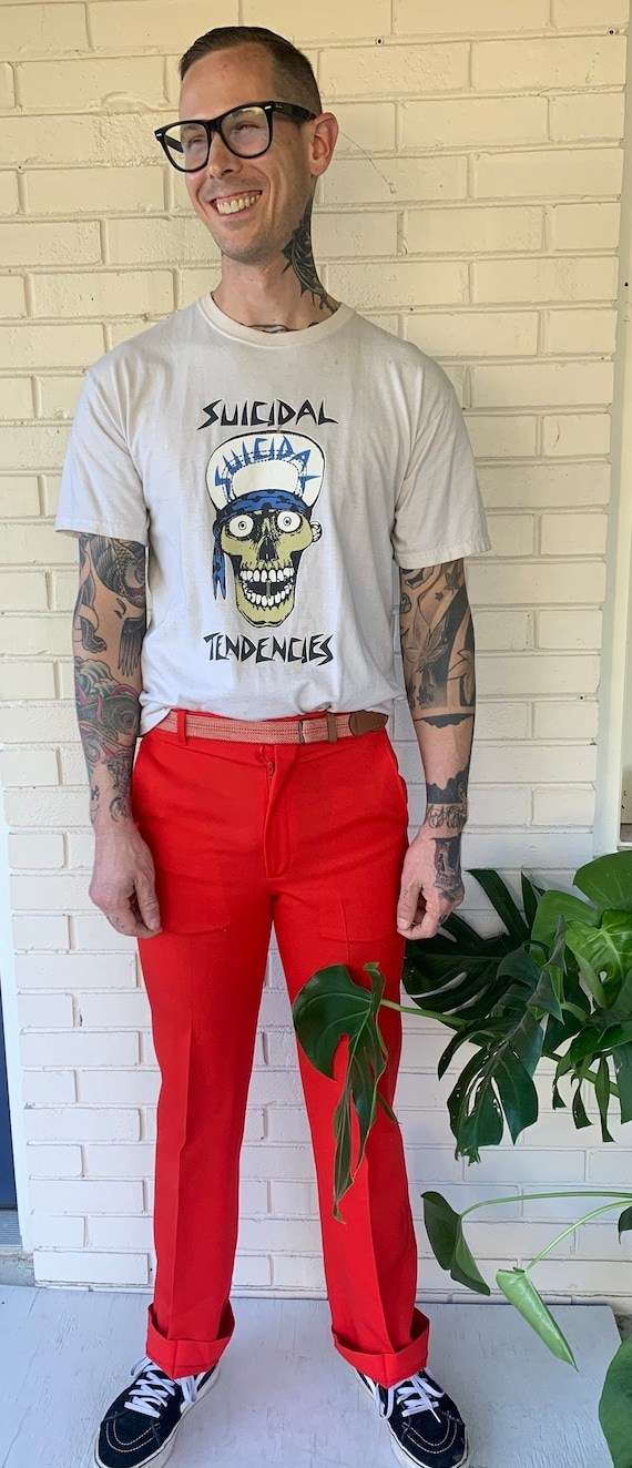 70s red pants - image 1