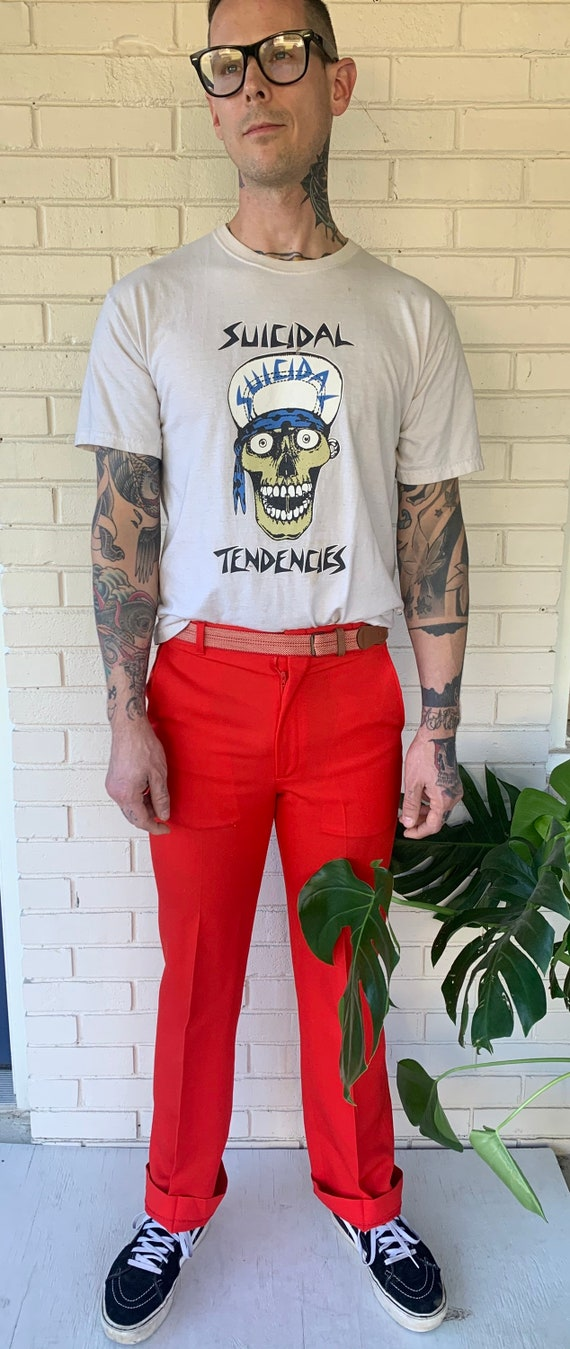 70s red pants - image 2