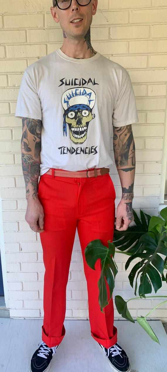 70s red pants - image 3