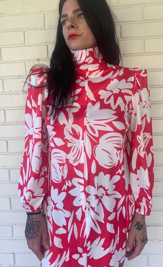 70s floral mini dress - image 5