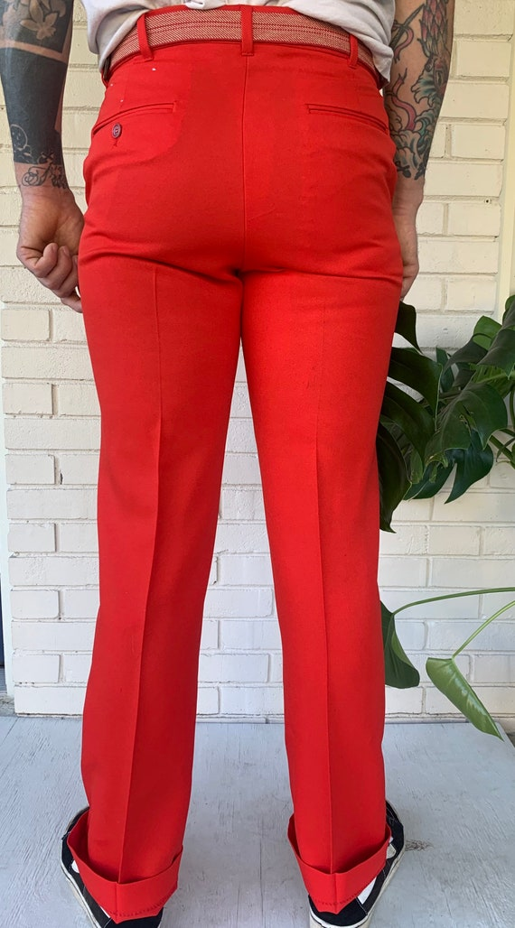 70s red pants - image 4