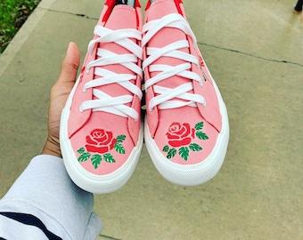 93095c973 Custom Shoes Rose Vans   Nike Air Force 1 One Adidas Vans Jordan Converse  Sneaker Air Max Hypebeast Authentic Old Skool Roshe Sk8 Hi