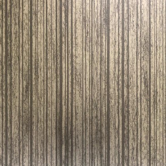 Metallic Bronze Wood Textured Wallpaper Remnant