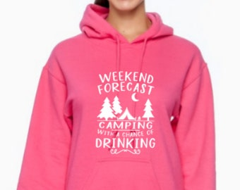 Football With a Chance Of Drinking Youth /& Womens Sweatshirt Weekend Forecast