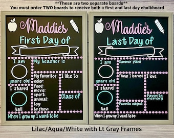 First Day of School Chalkboard Sign, Back to School Sign, Last Day of School Chalkboard, Reusable First Day of School Sign