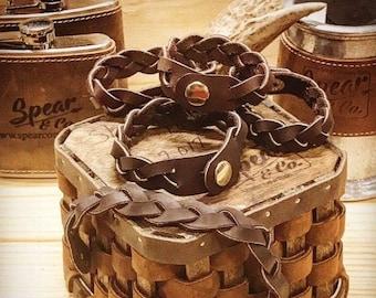 AromaTherapy Leather Bracelet - Handmade - FREE SHIPPING