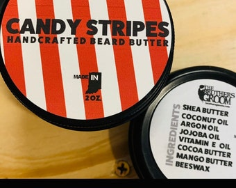 Candy Stripes Groom BUTTER - Handcrafted / Handmade - FREE SHIPPING